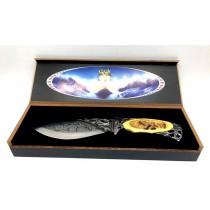 Cuchillo souvenir Lobo, 25 cm