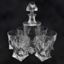 """Conjunto de whisky """"Quadro"""", jarrón y 6 vasos"""