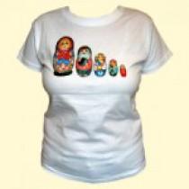 "Camiseta ""Matrioshka"", algodón"