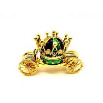 El carro - caja de Fabergé, oro.