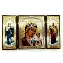 """Triptico """"Virgen del Perpetuo Socorro"""", 12*20 cm"""