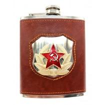 """Petaca """"Escudo de CCCP"""" 240 ml, de acero inoxidable,"""