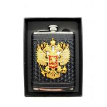 "Petaca ""Escudo Rusia"" 240 ml, de acero inoxidable,"