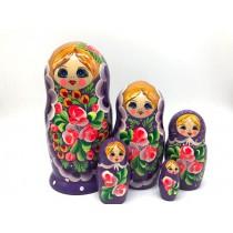 """Matrioska """"Lila"""", 19 cm 5 piezas"""