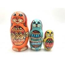 """Muñeca rusa """"Conejos"""". 12 cm"""