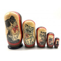"Matrioska ""Gatos"", 11 cm 5 gatos"