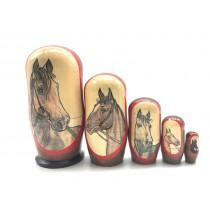"Muñeca rusa ""Caballos"", 11 cm 5 piezas"