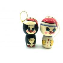 """Colgante para árbol de Navidad """"Muñeco de nieve"""", """"Pingüino"""", 8 cm"""