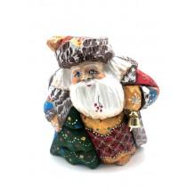 """Figura de madera """"Papá Noel con árbol de Navidad"""""""