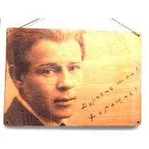 "Placa retro ""Sergey Esenin"""