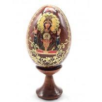 Huevo con icono en un soporte, 10 cm