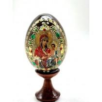 """Huevo en soporte """"Madre de Dios"""", 10 cm"""