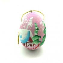 "Huevo colgante ""Paisaje de invierno"", acrílico, rosa"