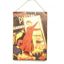 "Placa retro ""cartel soviético"""
