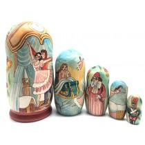 Muñeca rusa Cascanueses,  5 piezas