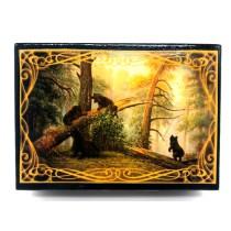 """Cajita """"Mañana en el bosque de pinos"""" 10 * 14 cm"""