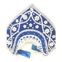 El kokoshnik infantil, azul
