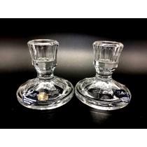 Un juego de candelabros, 2 piezas cristal Bohemia