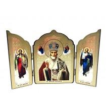 """Triptico"""" San Nicolas"""", 12*20 cm"""