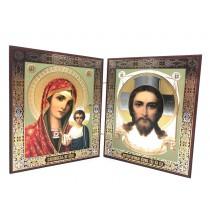 Icono diptico, 13*23 cm, madera