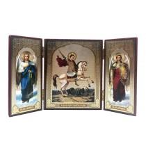 Icono-triptico San Jorge, 12*20 cm