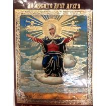"""Icono en plástico """"Virgen del pan"""""""