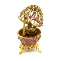 Huevo de Fabergé con la Catedral de Jesús Cristo  12 cm