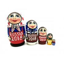 """Muñeca rusa """"Rusia 2018"""", 10 cm"""