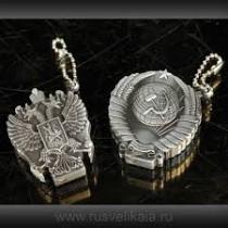 Encendedores con símbolos de la URSS y Rusia