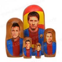 "Matrioska ""Messi"" 5 piezas"