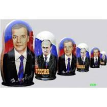 "Matrioska ""Medvedev"" 5 piezas"