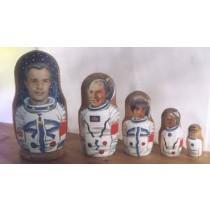 "Matrioska ""Gagarin"" 18 cm"