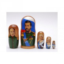 """Matrioska """"Reyes y Reinas de Rusia"""" 18 cm"""
