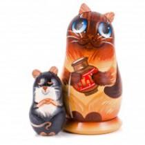 """Muñeca rusa """"Gato con una jarra"""" 13 cm"""