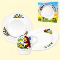 """Conjunto de platos para niños """"Kolobok"""""""