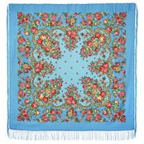 """Chal de lana con flecos de seda  """"Dushechka"""", 146х146 cm"""