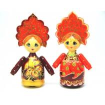 Muñeca de madera, 15-16 cm