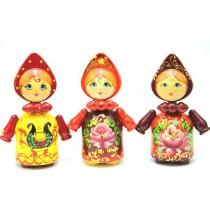 Muñeca artesana con pañuelo, 13 cm