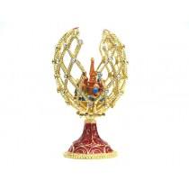 Replica de Huevo Faberge con Kremlin, 14 cm