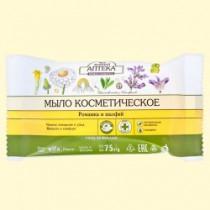Jabón cosmético con manzanilla y salvia, 75 g