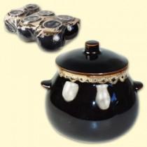 Ollas de cerámica, para hornear, 6 unid