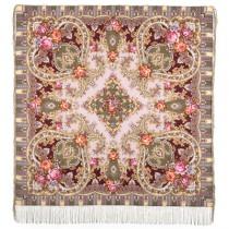 """Chal de lana con flecos de seda """"Imagen misteriosa"""", 125*125 см"""