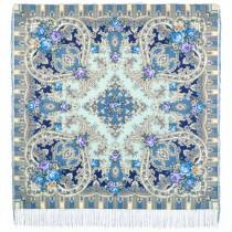 "Chal de lana con flecos de seda, ""Imagen misteriosa"" 125*125 cm"