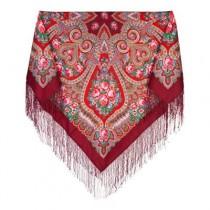 Pañuelo chal de lana con flecos de seda , 148 * 148 cm