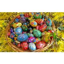 Huevos de Pascua, madera
