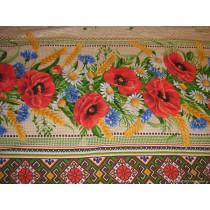 Mantel de mesa Amapolas, lino 110*150 cm
