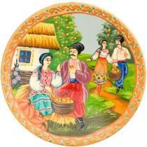 Plato de madera, parejas ucranianas 24 cm