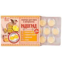 Pastillas para la garganta y la inmunidad con limon y miel, 10 piezas