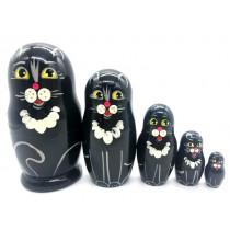 Matrioska Gato negro