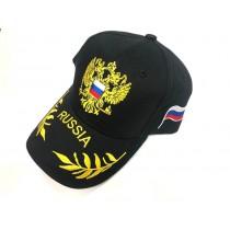 "Gorra ""Rusia"" negra"